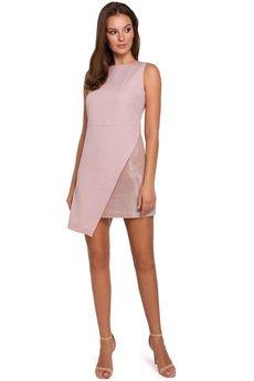Makover - Krótka sukienka dwuwarstwowa K014