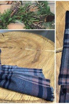 r3s men's accessories - szal wełniany krata
