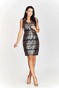 Bird - Ołówkowa sukienka z cekinami