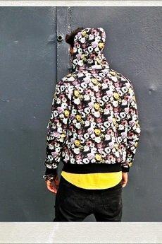 Button - KURTKA BOMBERKA JACKET UNISEX kwiaty