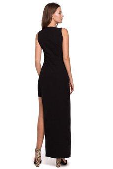 Makover - Sukienka długa asymetryczna K026
