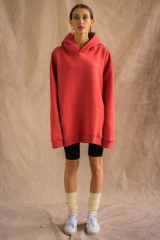 WARSAW SAINTS - Oversized Hoodie Cranberry