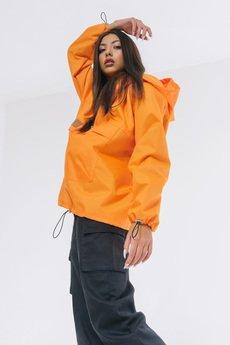 REST FACTORY - Kurtka wiatrówka typu anorak pomarańczowa