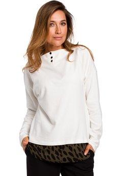 Style - Sweter warstwowy z guzikami pod szyją S195
