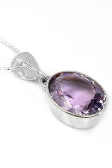 Brazi Druse Jewelry - Colare Ametyst Szlif Owalny srebro