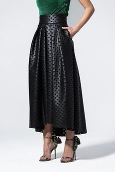 my image art - Ażurowa spódnica Chaaya skóra ekologiczna