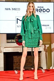 my image art - Jedwabna sukienka mini DOLL