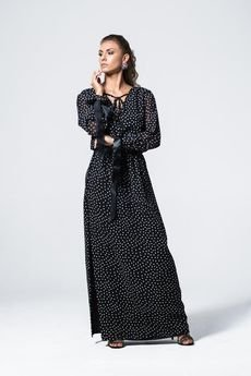 my image art - Sukienka maxi w kropki Puntino