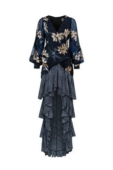 my image art - Jedwabna sukienka z falbanami Sena