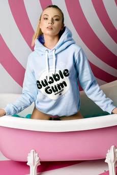 ŁAP NAS - Niebieska bluza z kapturem Bubble Gum