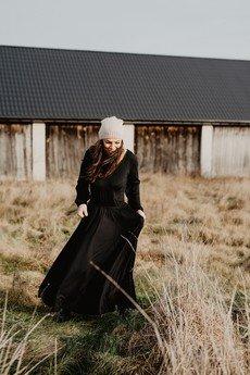 Ququ   Design - Czarna maxi sukienka