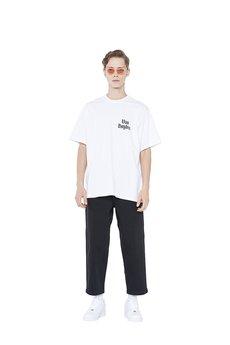 Van Hoyden - T-shirt Oversize Menu Card White