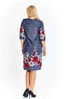 Bird - Sukienka o wielokolorowym melanżowym odcieniu urozmaicona kwiatowym wzorem