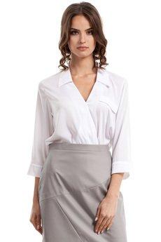 Style - Bluzka koszulowa z zakładką S052
