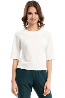Style - Prosta bluzka z rękawem 3/4 S063