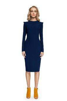 Style - Sukienka z nowoczesnymi detalami S078