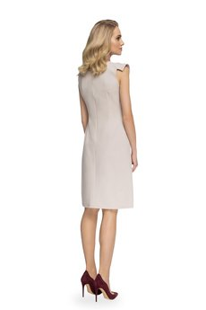 Style - Sukienka z ozdobnymi rękawami S079