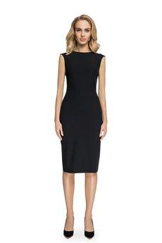 Style - Sukienka z przeszyciami przy rękawach s080