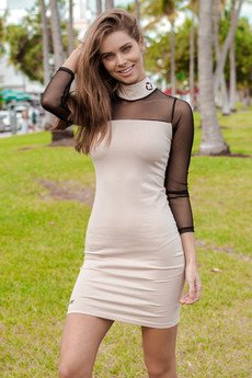 ATR WEAR - High neck black dress