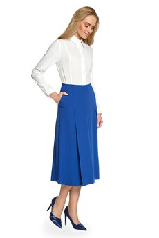 Style - Spódnica midi z kontrafałdami  S089