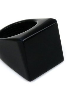 Brazi Druse Jewelry - InspiRing Agat Czarny rozmiar 13