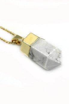 Brazi Druse Jewelry - Colare Howlit złoto
