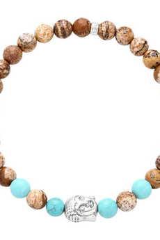 OXMO® Jewellery - Bransoleta męska jaspis BUDDA No. 7090