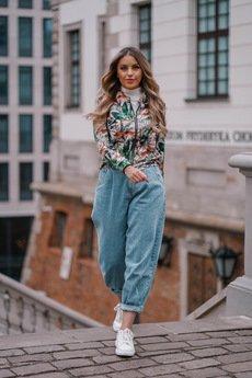 ekoszale - dresowa bomberka w gepardy, bluza damska
