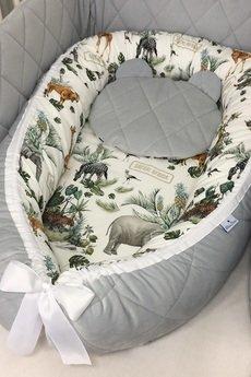UtuLeni - Kokon niemowlęcy Premium ze zdejmowanym pokrowcem