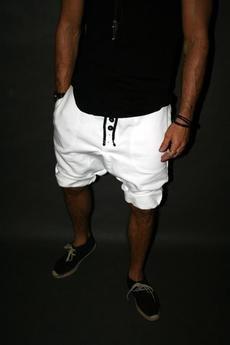Button - SHORT PANTS 5 BUTTONS UNISEX czarne
