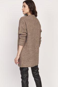 Lanti - Ciepły sweter - kardigan, SWE127 mocca