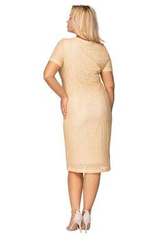 Bird - dopasowana sukienka z krótkim rękawem