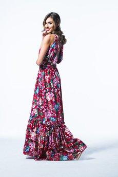 my image art - Sukienka maxi kwiaty  Sahira