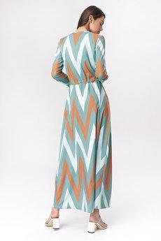 Nife - NIFE Sukienka maxi turkusowa (S140)