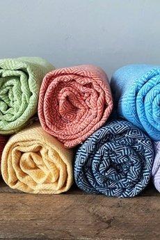 HisOutfit - Ręcznik z organicznej bawełny ręcznie tkanej