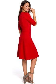 Style - Sukienka dzianinowa z dekoltem V S153