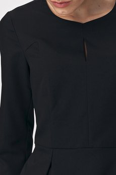 Nife - NIFE Sukienka tulipan czarna (S142)