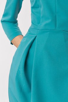 Nife - NIFE Sukienka tulipan turkusowa (S142)