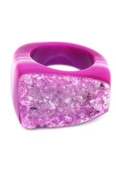 Brazi Druse Jewelry - InspiRing Agat Druza Róż Biskupi rozmiar 15