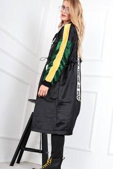 Bird - oversize'owy płaszcz z szarfą na plecach