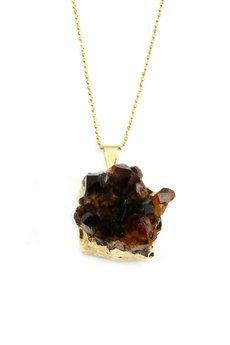 Brazi Druse Jewelry - Colare Cytryn Szczotka Rozgwiazda złoto