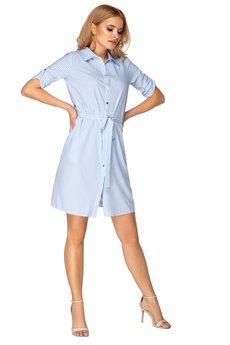 Bird - sukienka szmizjerka z wiązaniem w pasie