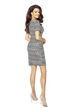Bird - Ołówkowa sukienka z wiązaniem przy dekolcie