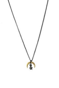 Iluzja Jewellery - Srebrny naszyjnik z zawieszkami Petite Witch