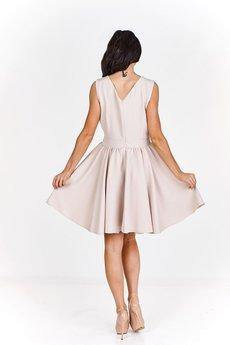 Bird - Monochromatyczna sukienka koktajlowa