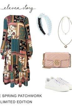 Elevenstory - Sukienka LUCIE PATCHWORK