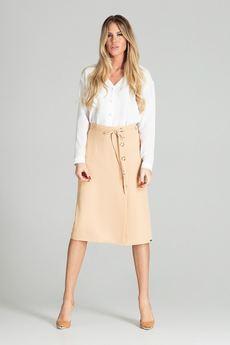 Beżowa ołówkowa spódnica Nife