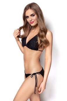 OrienteGlamour - Strój kąpielowy LUANA bikini czarny