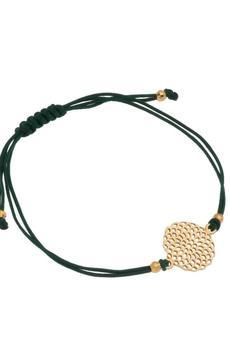 Mogusto  - Bransoletka na sznureczku z rozetą