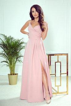 numoco - 299-2 CHIARA elegancka maxi suknia na ramiączkach